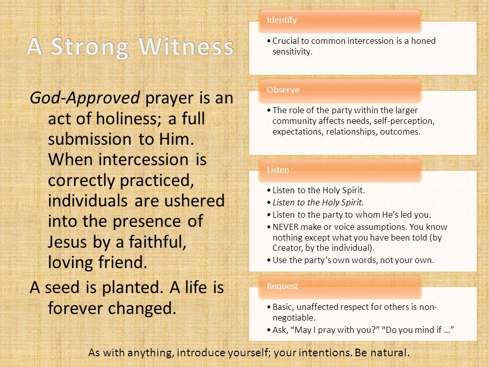 God-Approved prayer is an act of holiness; a full submission to Him.