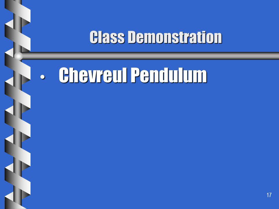 17 Class Demonstration Chevreul Pendulum Chevreul Pendulum
