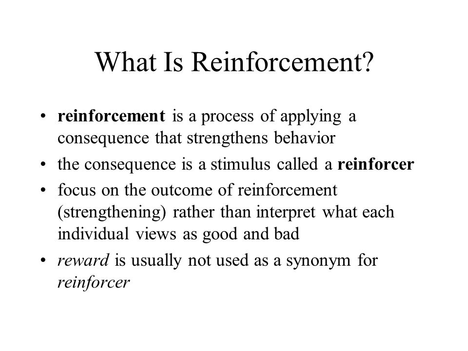 Factors Affecting Negative Reinforcement Effectiveness negative reinforcement is stronger when the reward value is high much of our behavior is controlled through negative reinforcement few behavioral treatments apply negative reinforcement