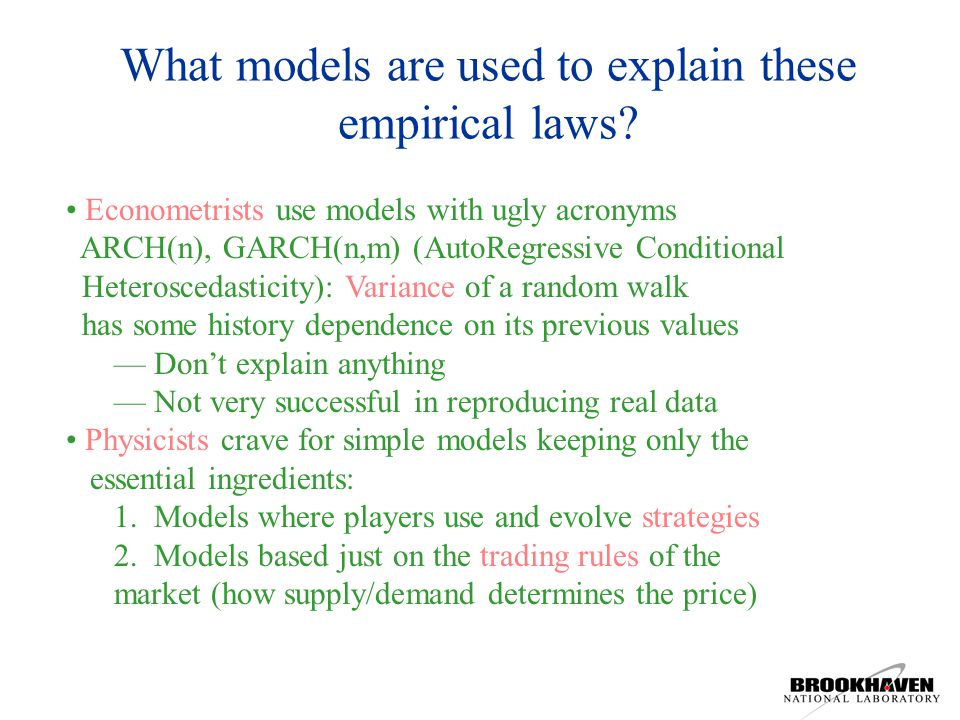 What models are used to explain these empirical laws.