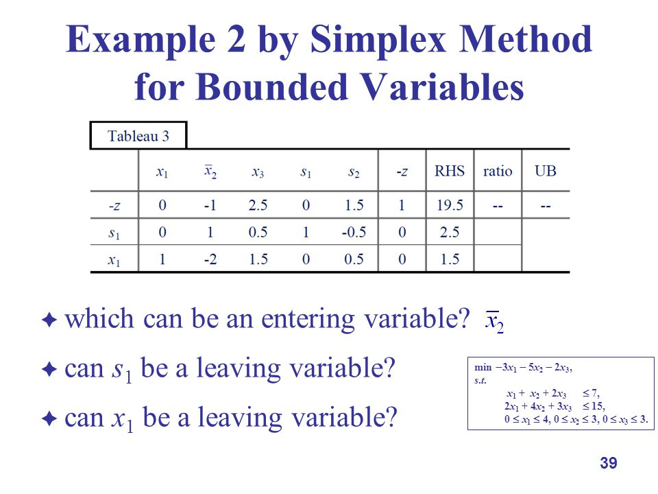 which can be an entering variable.can s 1 be a leaving variable.