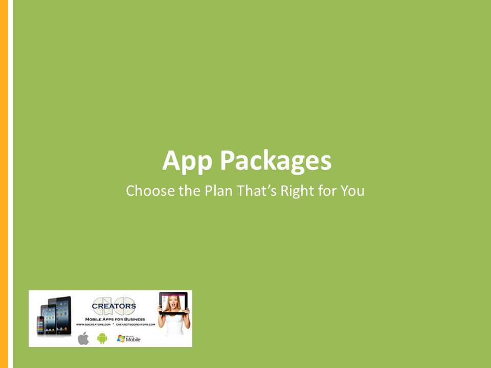 App Packages Choose the Plan Thats Right for You