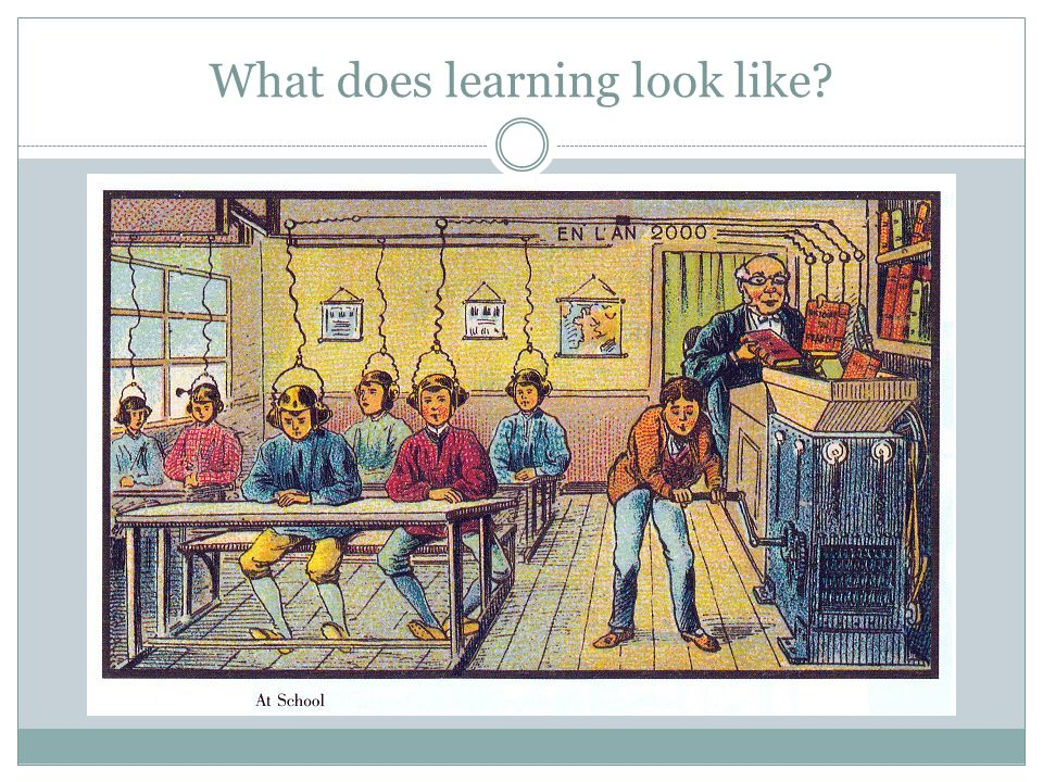 What does learning look like?