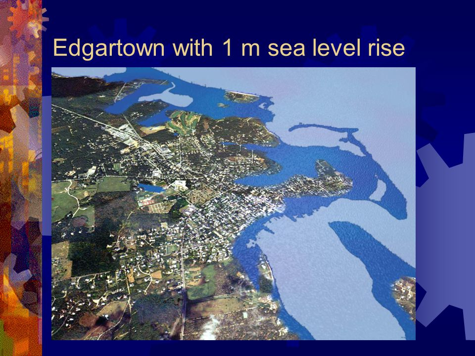Edgartown with 1 m sea level rise
