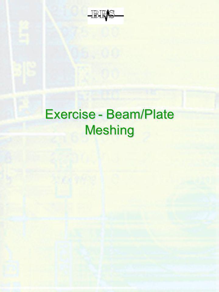 Exercise - Beam/Plate Meshing