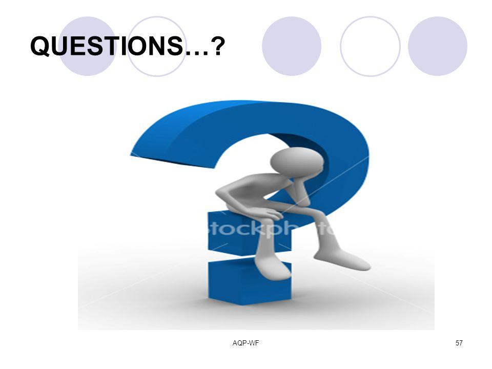 AQP-WF57 QUESTIONS…?