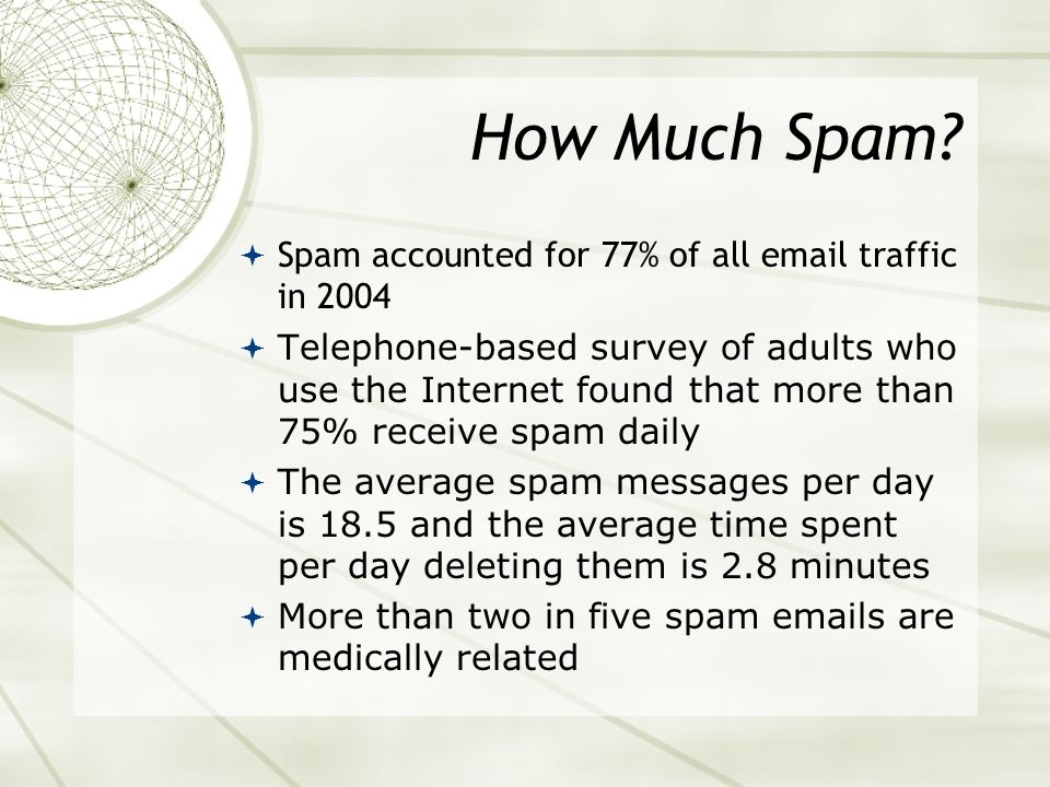 What Is Spam? Spamming is the use of any electronic communications medium to send unsolicited messages in bulk. While its definition is usually limite