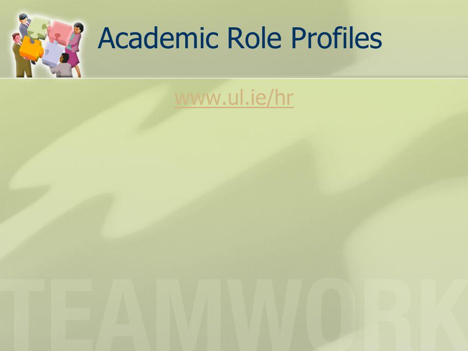 Academic Role Profiles www.ul.ie/hr