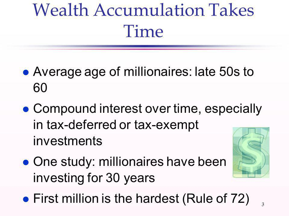 2 Class Objective: To discuss 20 research-based strategies to accumulate wealth over time 10 investment steps 10 lifestyle and financial planning step