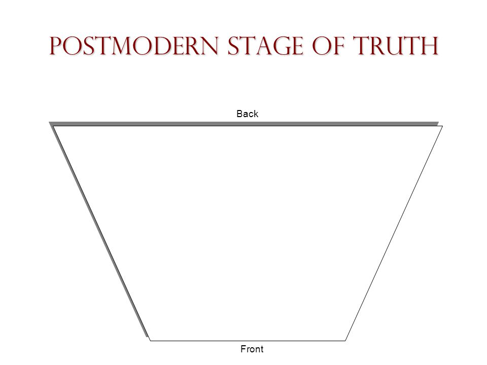 Postmodern Stage of Truth Back Front