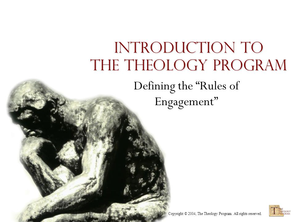 Copyright © 2004, The Theology Program. All rights reserved. Categories of Theology