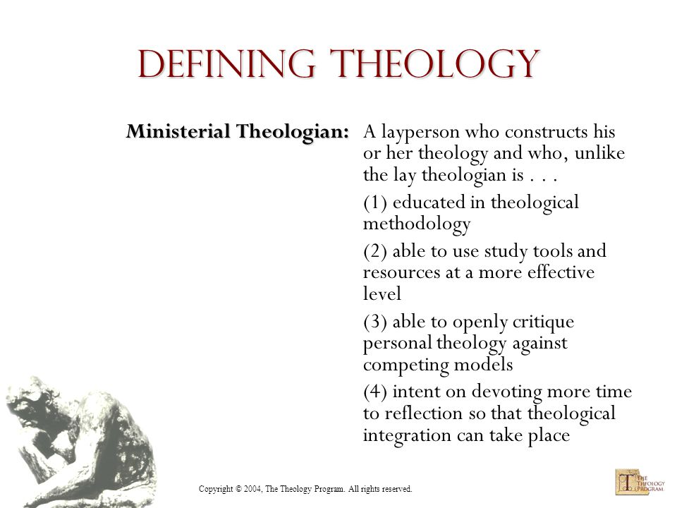 Copyright © 2004, The Theology Program. All rights reserved.