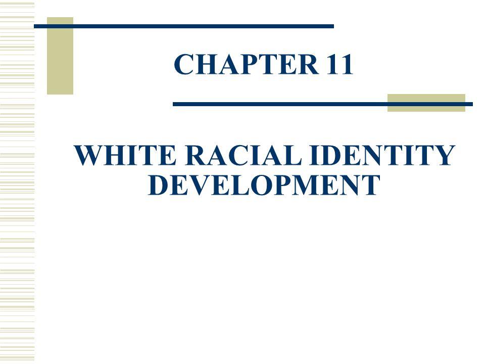 CHAPTER 11 WHITE RACIAL IDENTITY DEVELOPMENT