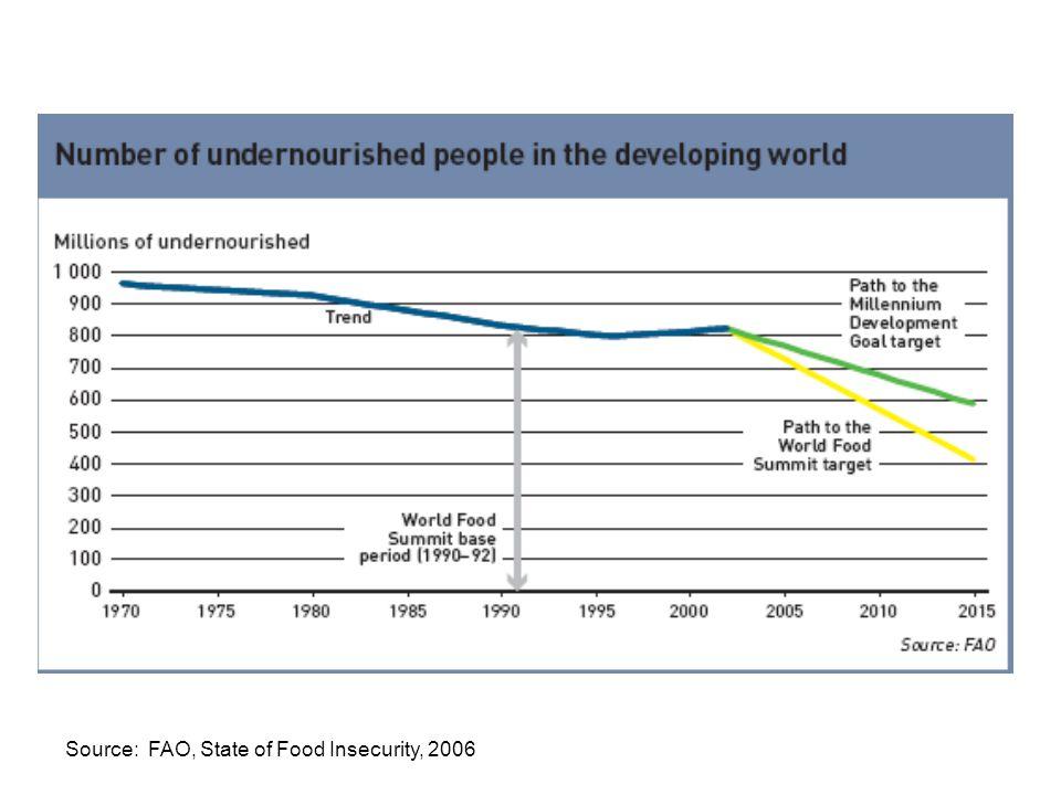 Source: FAO, State of Food Insecurity, 2006