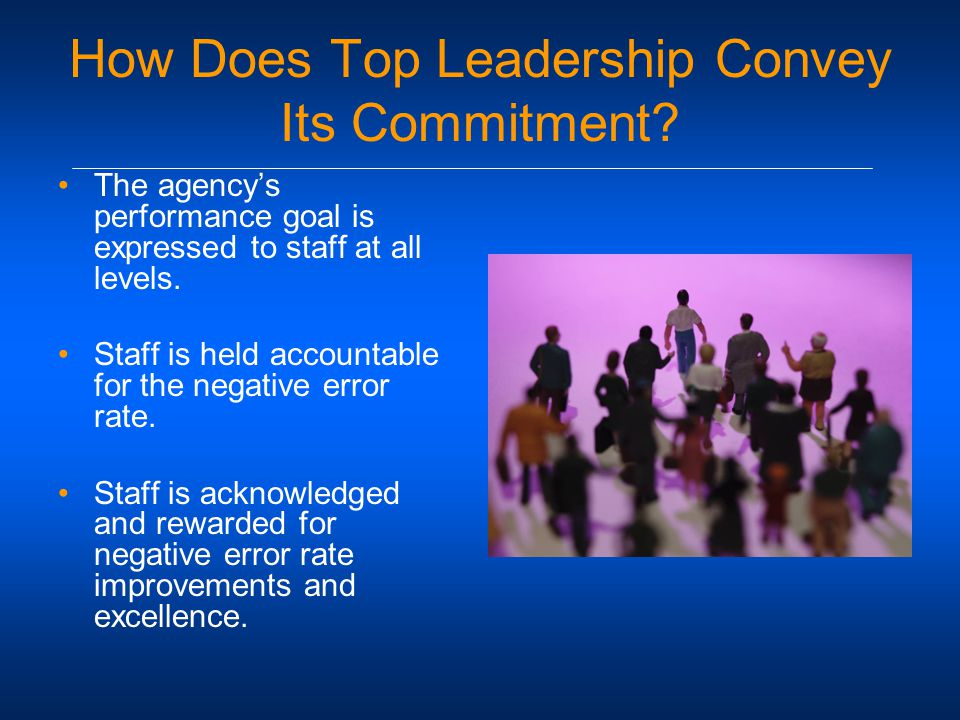 How Does Top Leadership Convey Its Commitment.