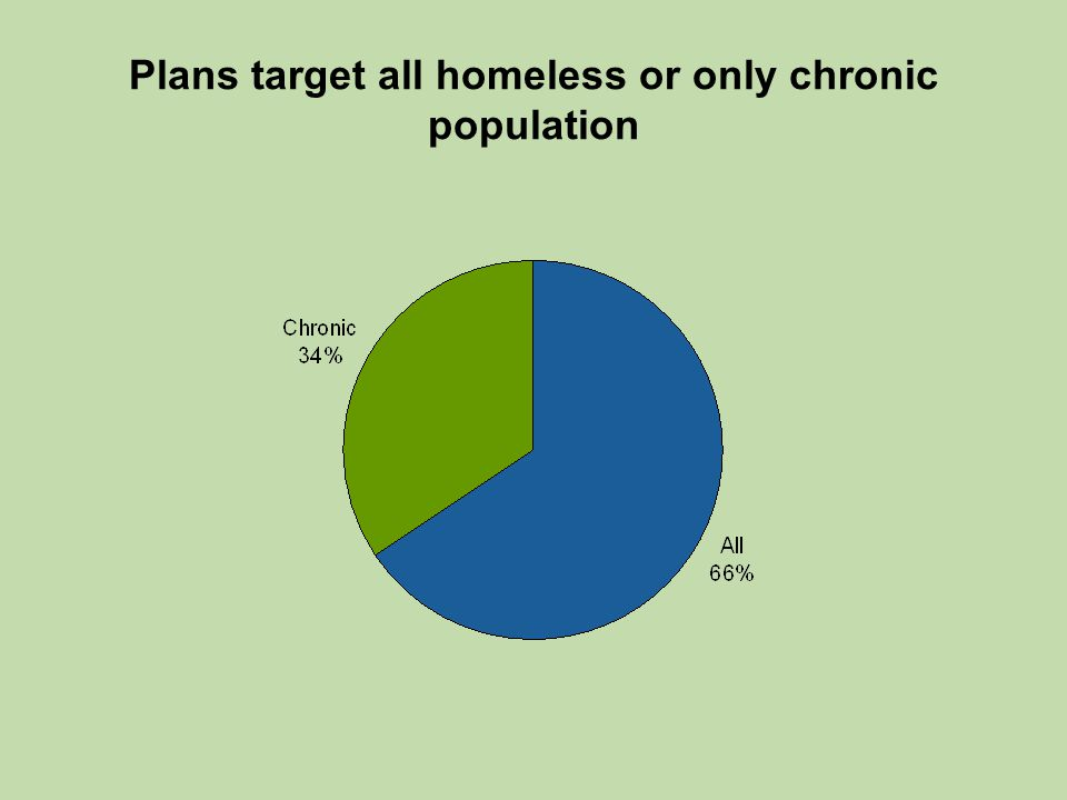 Plans target all homeless or only chronic population