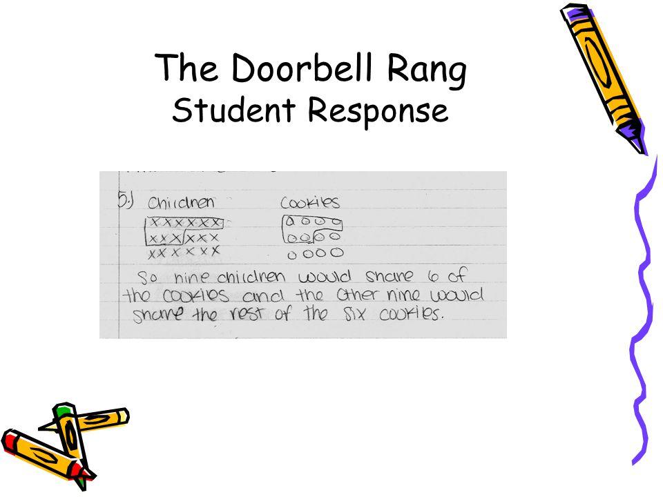 The Doorbell Rang Student Response