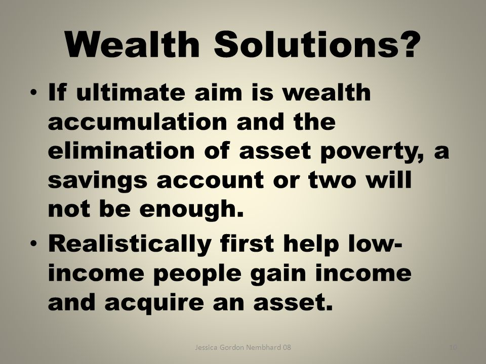Jessica Gordon Nembhard 0810 Wealth Solutions.
