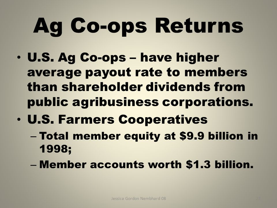 Jessica Gordon Nembhard 0823 Ag Co-ops Returns U.S.