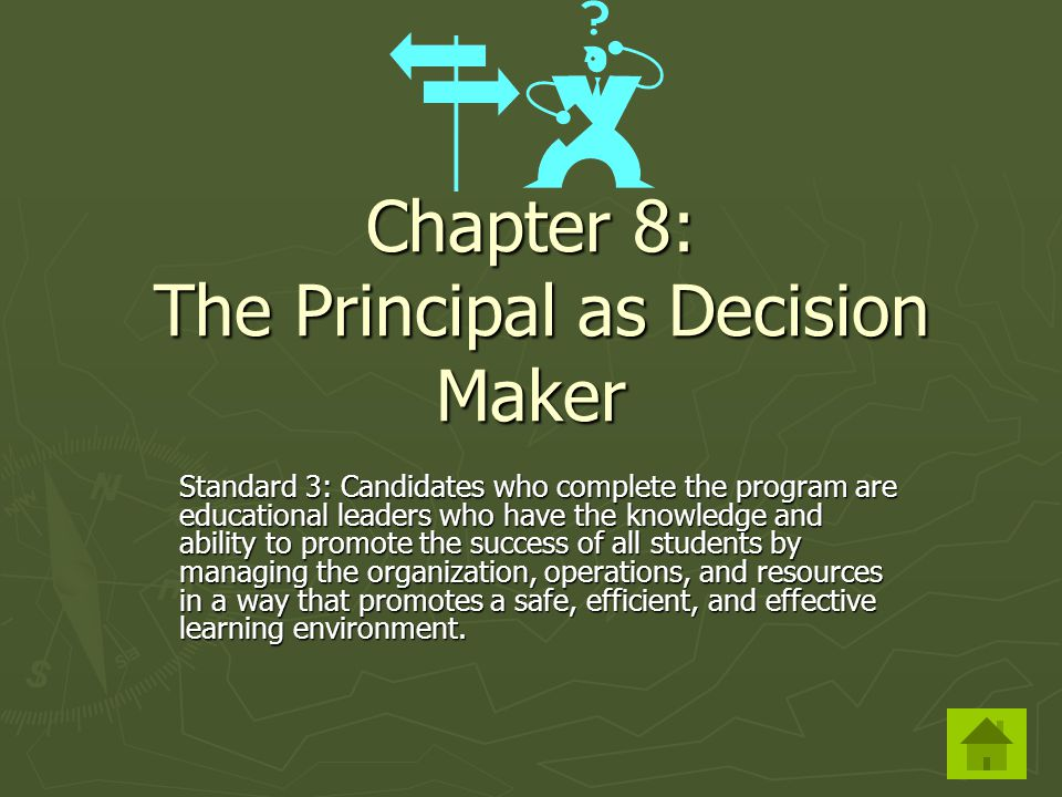 Standard 3: Candidates who complete the program are educational leaders who have the knowledge and ability to promote the success of all students by managing the organization, operations, and resources in a way that promotes a safe, efficient, and effective learning environment.