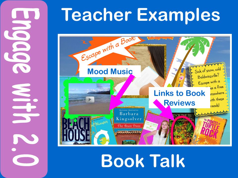 Teacher Examples Book Talk Mood Music Links to Book Reviews