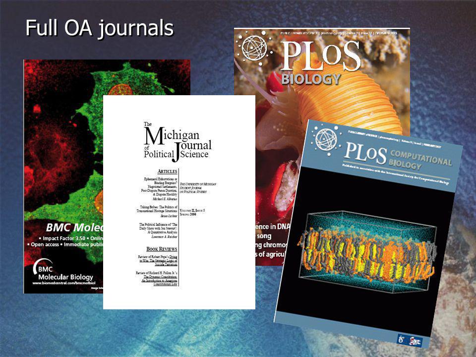 Full OA journals