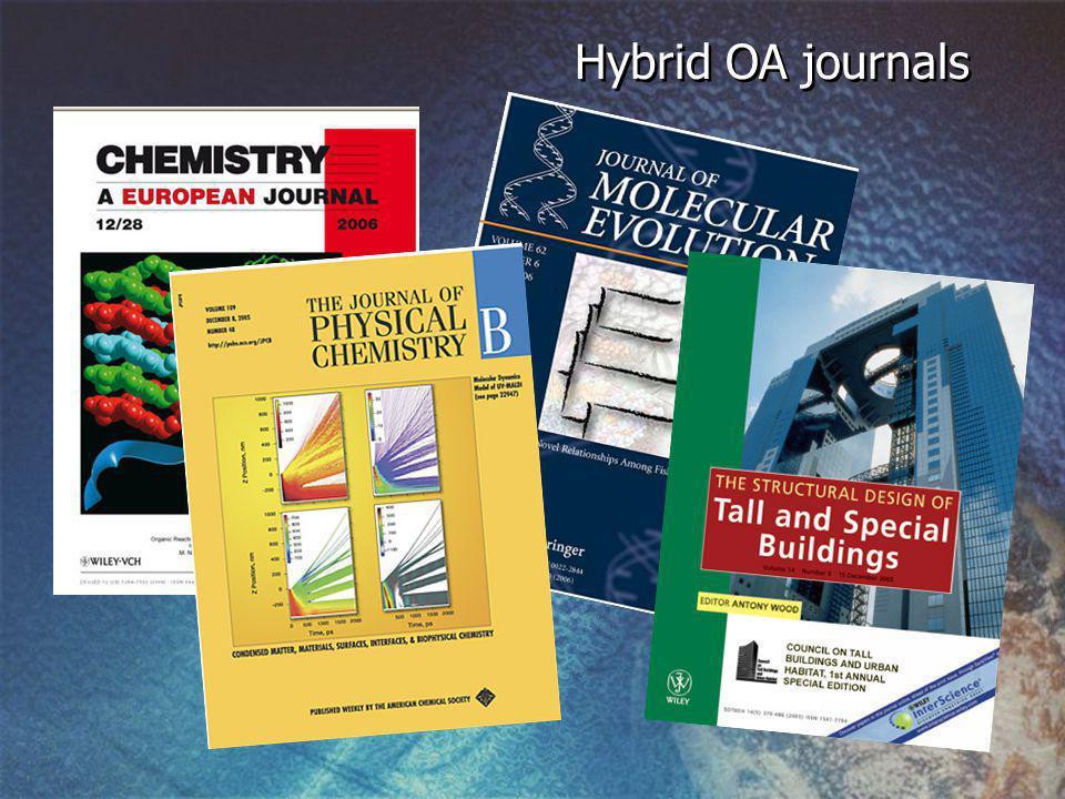 Hybrid OA journals