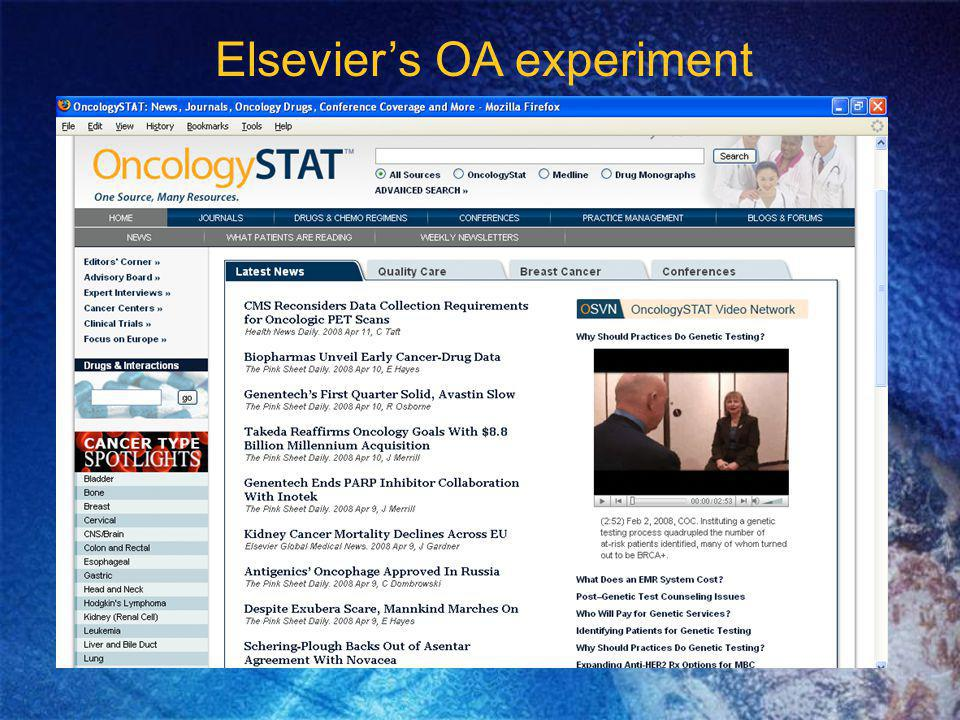 Elseviers OA experiment