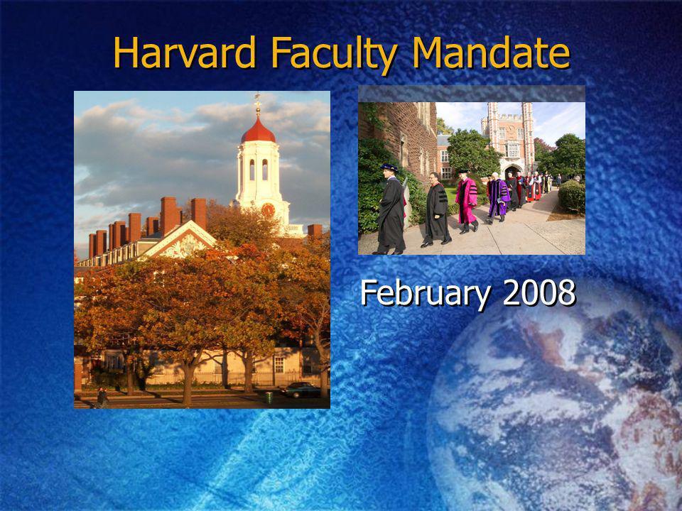 Harvard Faculty Mandate February 2008