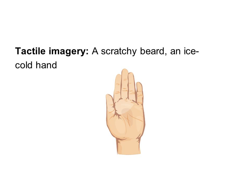 Tactile imagery: A scratchy beard, an ice- cold hand