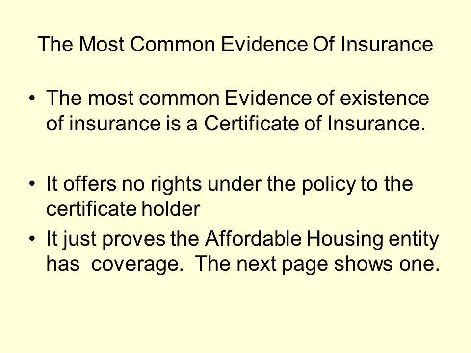 How Coverage Exclusions Effect Additional Insured Status In order to issue a certificate of insurance with an additional insured endorsement.