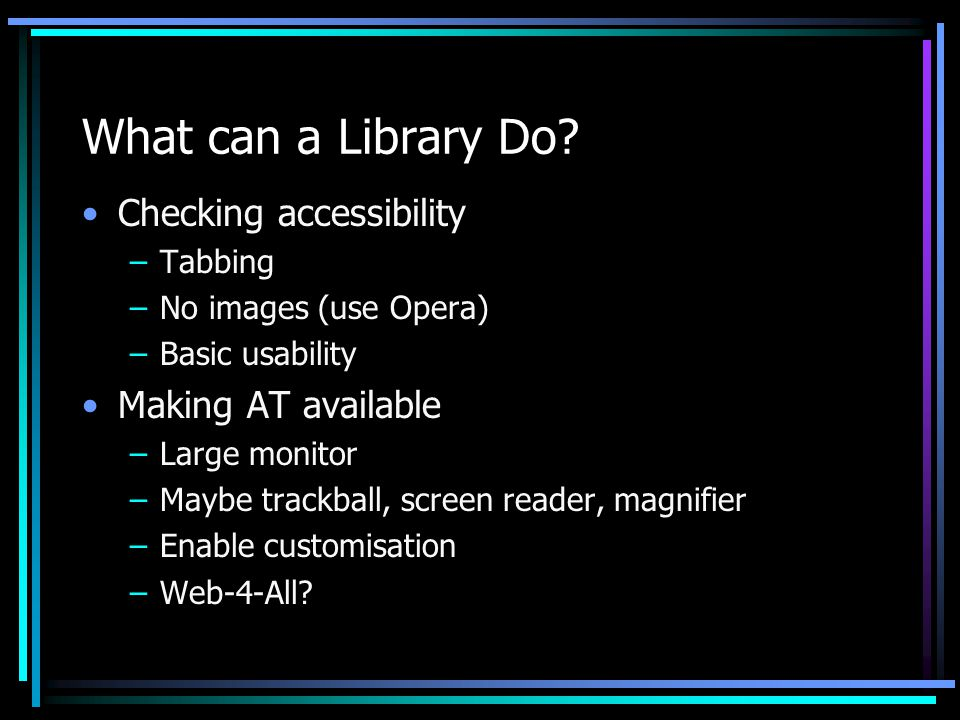 What can a Library Do.