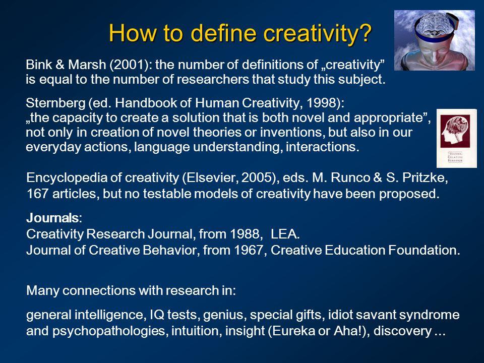 How to define creativity.