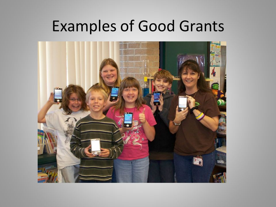 Examples of Good Grants