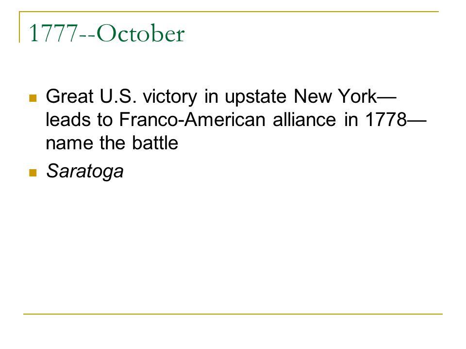 1777--October Great U.S.