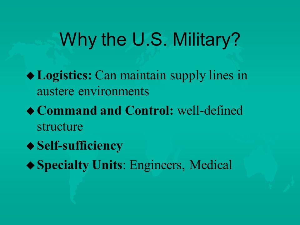 Why the U.S. Military.