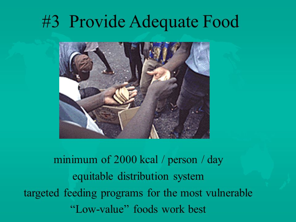 # 2 Provide Shelter and Clothing exposure to elements increases vulnerability as well as caloric requirements