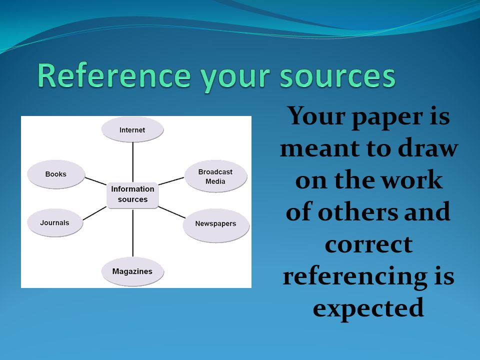 Your paper is meant to draw on the work of others and correct referencing is expected