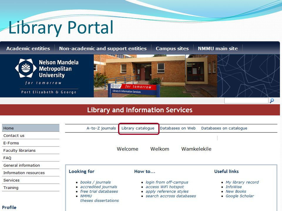 Library Portal