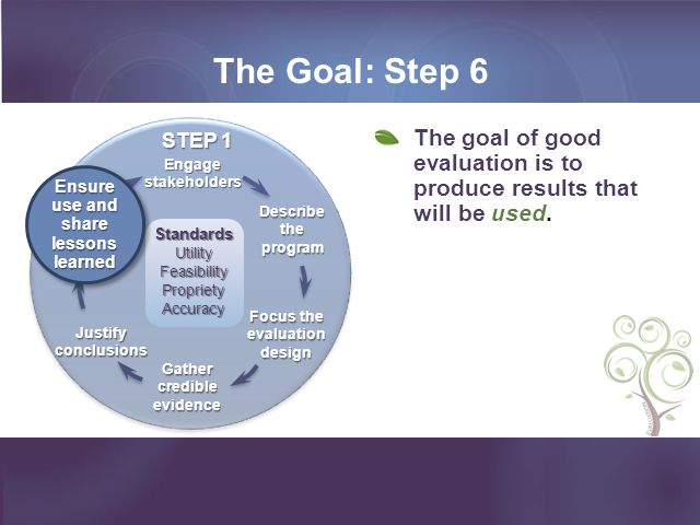 Scenario 1: Focus on Process Evaluation Did I get the inputs I needed.