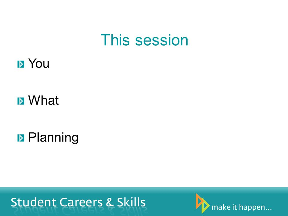 This session You What Planning