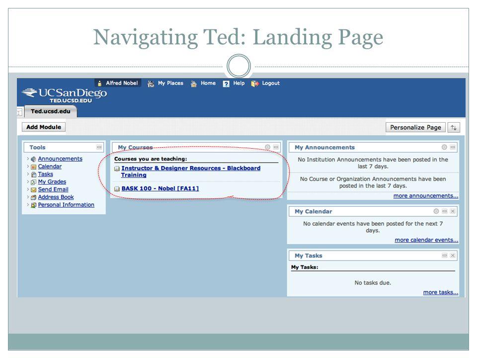 Navigating Ted: Landing Page