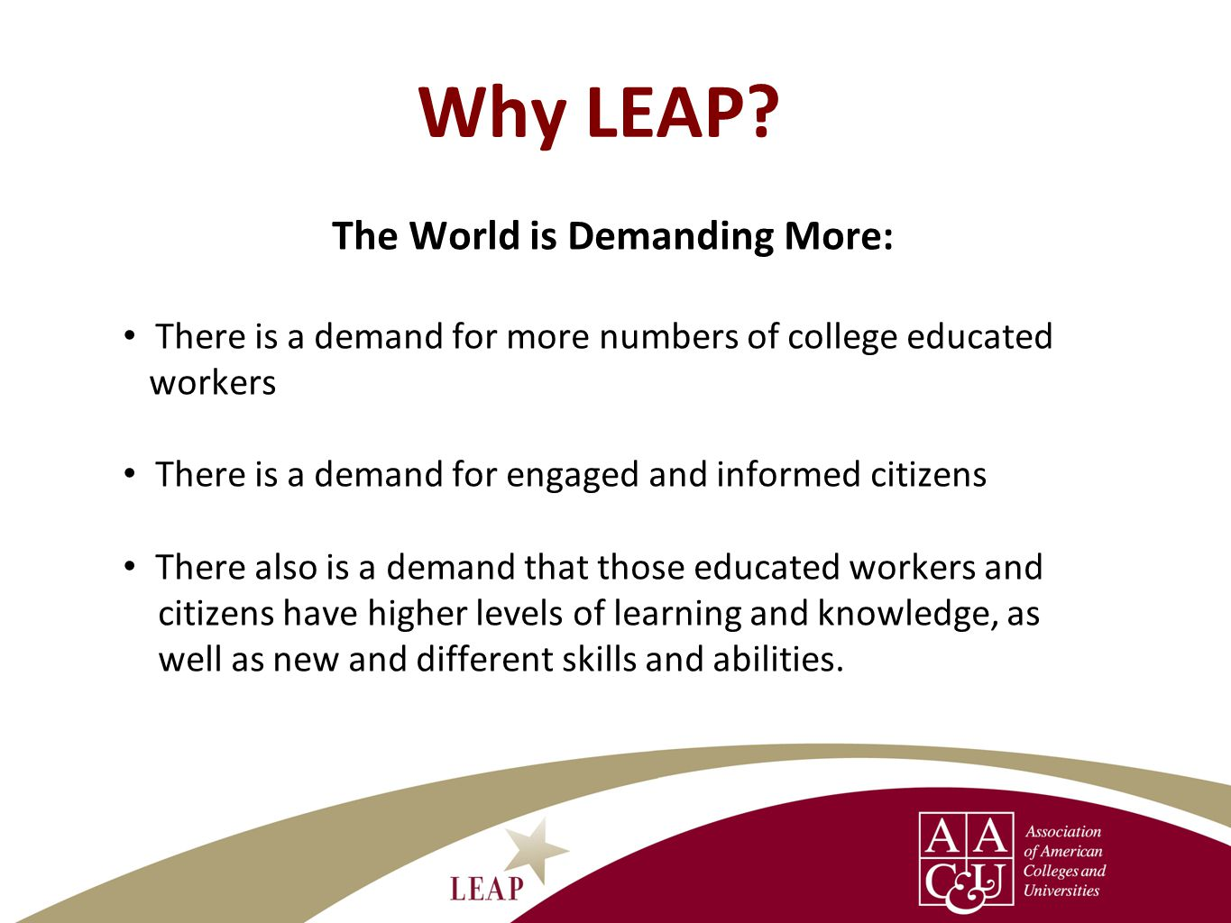 Why LEAP.