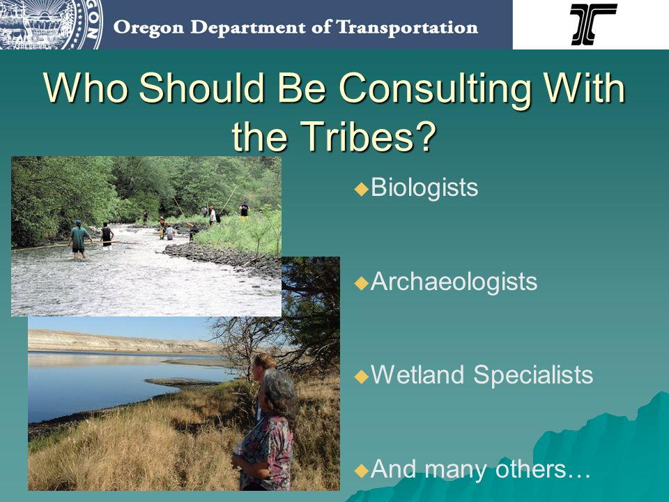Who Should Be Consulting With the Tribes.