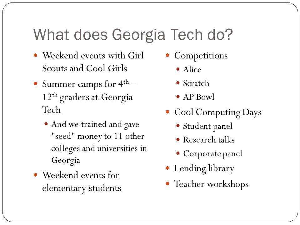 What does Georgia Tech do.