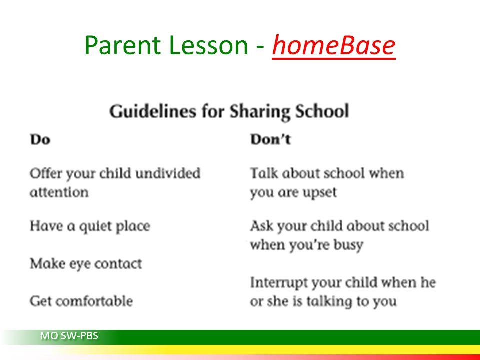 Parent Lesson - homeBase MO SW-PBS