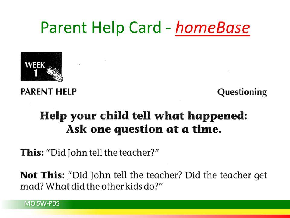 Parent Help Card - homeBase MO SW-PBS