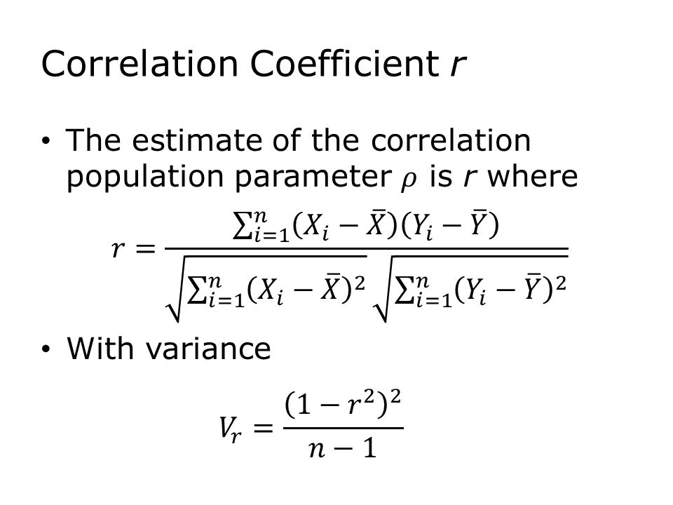 Correlation Coefficient r