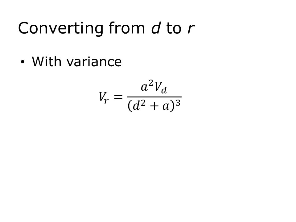 With variance