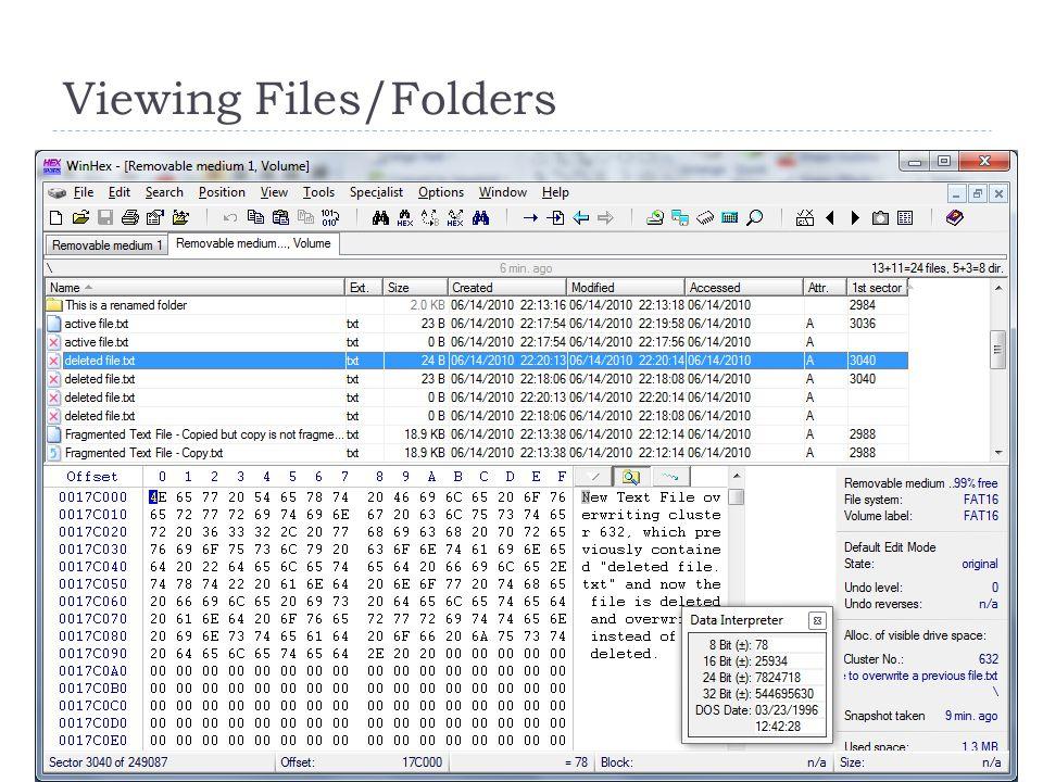 Viewing Files/Folders